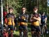 Valmiina ennen korttelia. Vasemmalta Ari Kuusisto, Ville Kantola ja Ville-Pekka Reponen. Kuva: Jari Birling