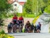 Ville-Pekka Reponen nousee irtiotossa Salpausselän jyrkkää nousua. Kuva: Kari Vanhala