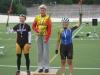 Ratapyöräilyn Suomen mestaruuskilpailut jatkuivat 28.7. Helsingin Olympiavelodromilla. Naisten 3km:n takaa-ajossa Riikka Pynnönen ajoi SM-hopealle. Hän hävisi TVC:n Pia Pensaarelle vain puolisentoista sekunttia. Lotta Lepistö Porin Tarmosta ajoi pronssille ennen Laura Liljaa, joka jätettiin palkintopallin ulkopuolelle neljänneksi.