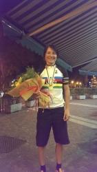Riikka Pynnönen on tänään 20.9. voittanut Maailman mestaruuden aika-ajossa luokassa N30 (UWCT UCI World cycling tour 2013 Final). Kilpailut käytiin Italian Trentossa.