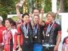 SM-kilpailujen aika-ajojen yhteydessä käytiin myös seurojen välinen joukkuekilpailu, joka yhden välivuoden jälkeen palautti taas teamin naiset kultakantaan. Mestarijoukkueessa mukana olivat Emma Sten (3:s), Riikka Pynnönen (4:s) ja Anna Lindström (12:a). Hopeapallille nousivat Koiviston Isku ja pronssipallille viime vuoden mestari Cycle Club Helsinki.