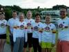 SFI Focus Ladies -joukkue iltaverryttelyllä majapaikan Campus Surseen lähellä Sveitsissä.