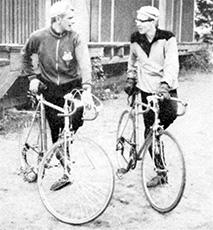 Urban Malmberg (vas.) ja Björn Palm olivat vahva pari seuran toiminnan pyörittämisessä.
